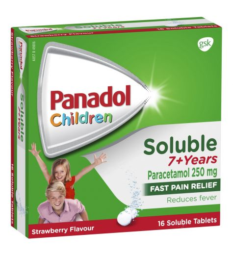 Panadol Soluble 7 Years+ 16 Tablets