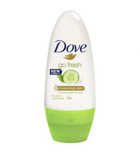 Dove Women Antiperspirant Roll On Deodorant Fresh Touch Cucumber & Green Tea 50ml