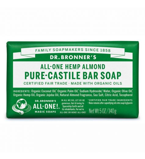 Dr. Bronner's Pure-Castile Almond Bar Soap 140g
