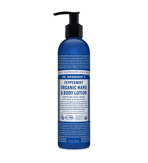 Dr. Bronner's Peppermint Organic Hand & Body Lotion 237ml