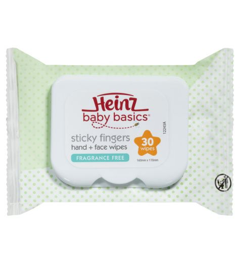 Heinz Sticky Fingers Fragrance Free Wipes 30 Pack
