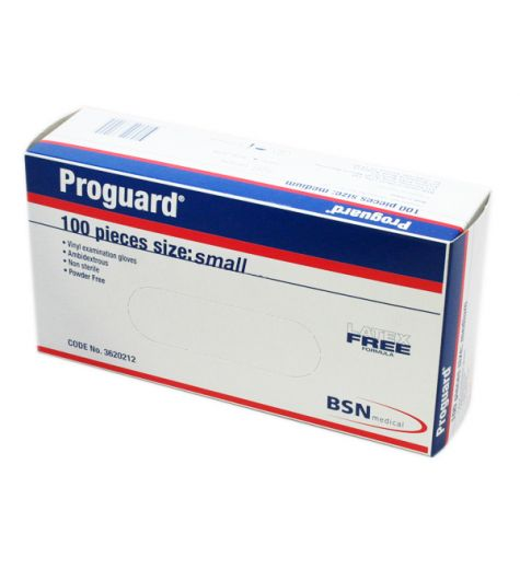 Proguard Small Vinyl Examination Gloves 100 Pack