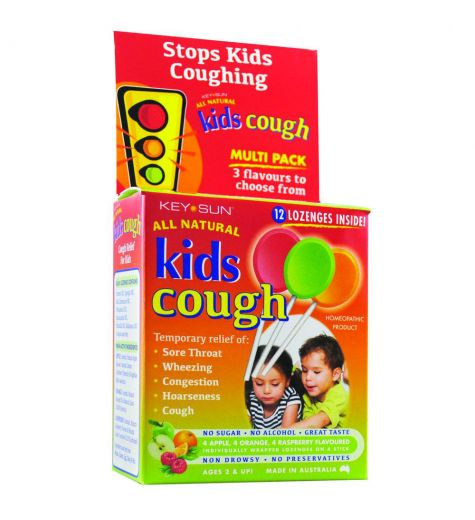 Key Sun Kids Cough Lozenges On A Stick 12 Variety Pack