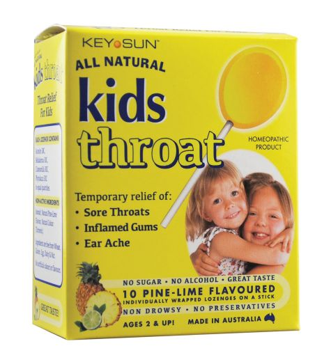 Kids Throat Lozenges on a Stick Pine-Lime 10