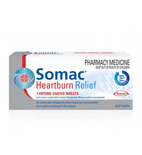 Somac Heartburn Relief 7 Enteric Coated Tablets