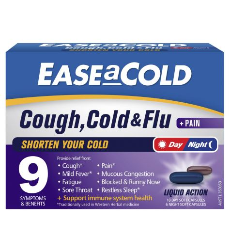 Ease A Cold Cough & Flu Day/Night 24 Capsules
