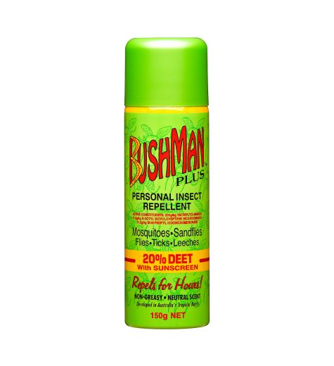 Bushman Plus Insect Repellent 20% Deet with Sunscreen 150g Spray
