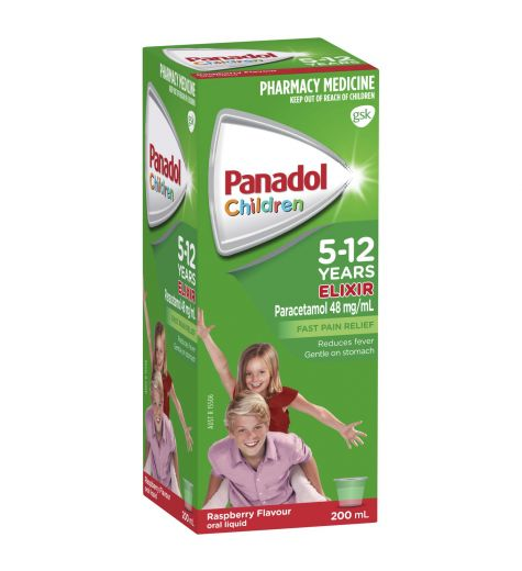 Children's Panadol 5-12 Years Elixir Raspberry 200ml