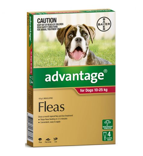 Advantage For Large Dogs(10-25kg) 4 Pack