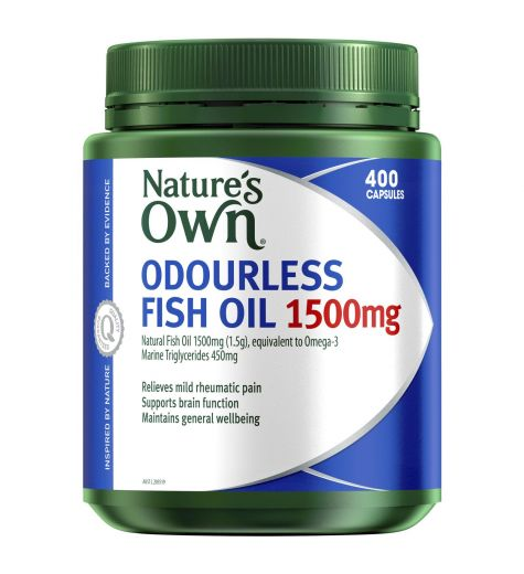 Natures Own Odourless Fish Oil 1500mg Capsules 400