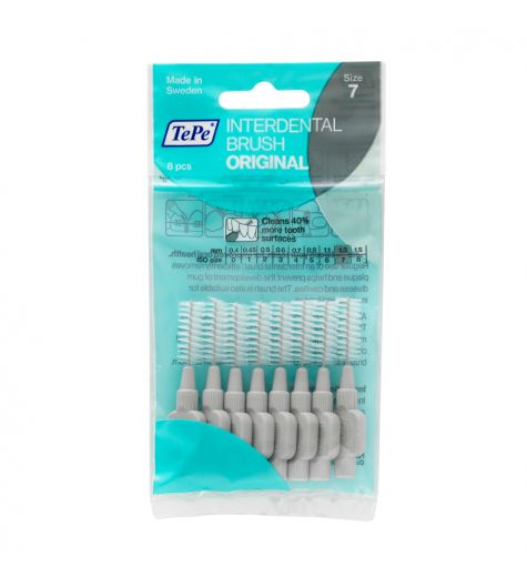 Tepe Interdental Brush 1.3mm Size 7 (Grey) 8 Pack