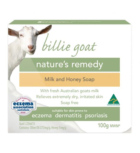 Billie Goat Soap Bar Milk & Honey 100g