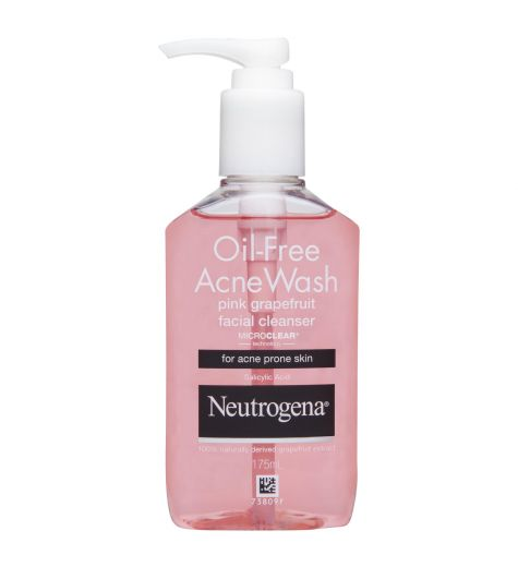 Neutrogena Oil Free Pink Grapefruit Acne Cleanser 175ml