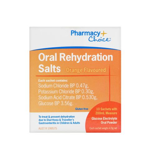 Pharmacy Choice Oral Rehydration Salts Sachet x 10
