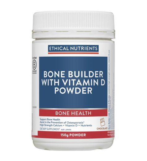 Ethical Nutrients MegaZorb Bone Builder + Vitamin D Chocolate Flavoured Powder 150g