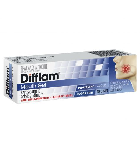 Difflam Anti-Inflammatory Anti-Bacterial Mouth Gel 10g