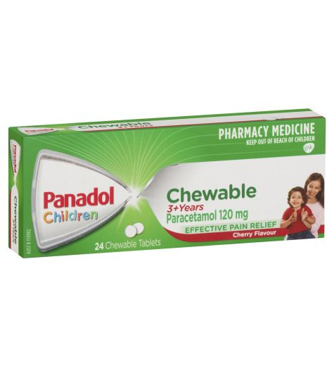 Panadol Childrens Chewable Tablets 24
