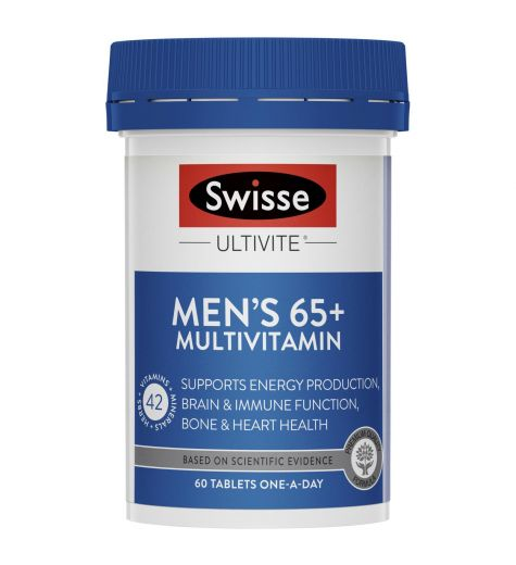 Swisse Men's Ultivite 65+ Years 60 Tablets