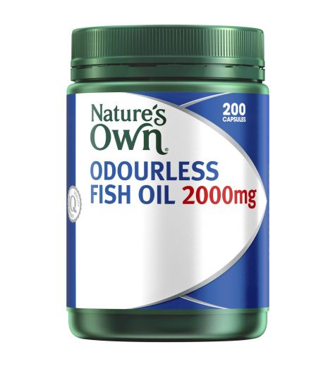 Natures Own Odourless Fish Oil 2000mg 200 Capsules