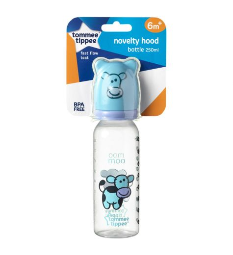 Tommee Tippee Novelty Hood Bottle 250ml BPA Free