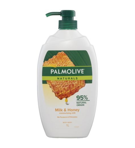 Palmolive Naturals Showergel Milk and Honey 1 Litre