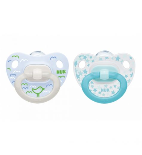 NUK Classic Happy Days Soother 6-18 Month 2 Pack