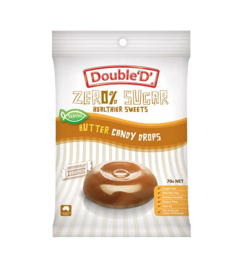Double 'D' Zero % Sugar Butter Candy Drops 70g