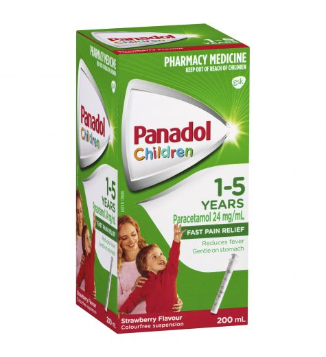 Panadol Children 1-5yrs Strawberry 200ml