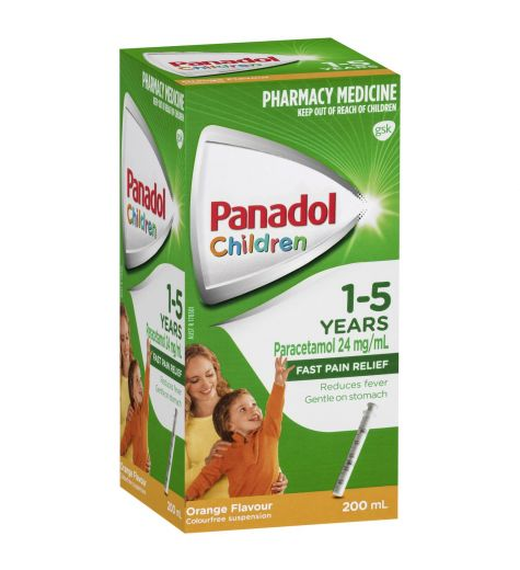 Panadol Children 1-5yrs Orange 200ml
