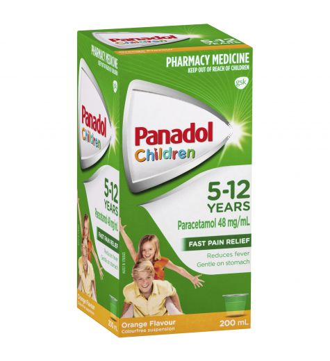 Panadol Children 5-12yrs Orange 200ml