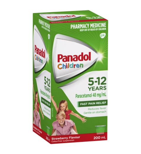 Panadol Children 5-12yrs Strawberry 200ml