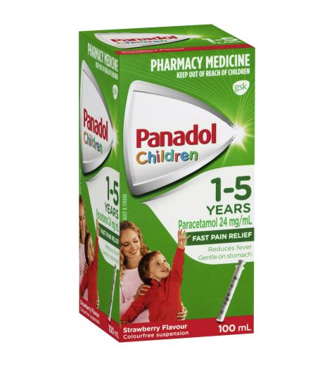 Panadol Children 1-5yrs Strawberry 100ml