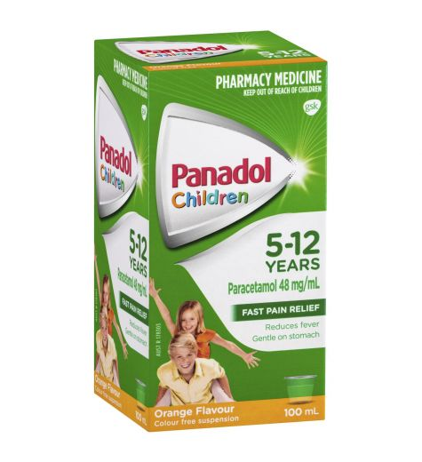 Panadol Children 5-12yrs Orange 100ml