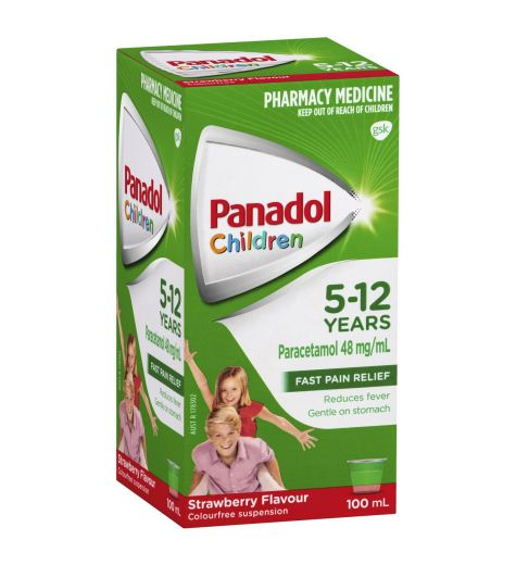 Panadol Children 5-12yrs Strawberry 100ml