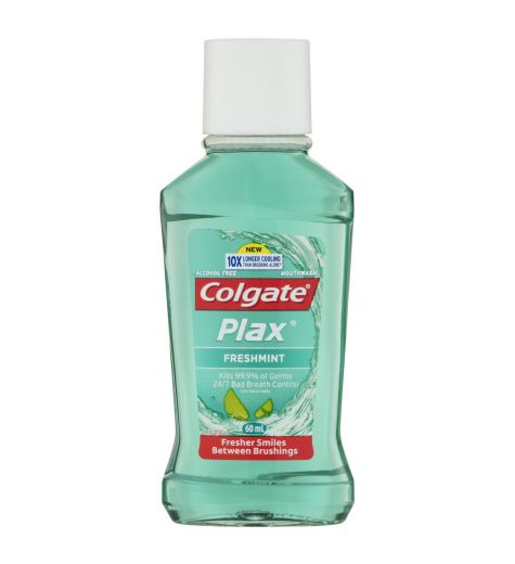 Colgate Plax Freshmint Mouthwash 60ml (Travel Size)