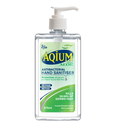 Ego Aqium with Aloe Hand Sanitiser 375ml