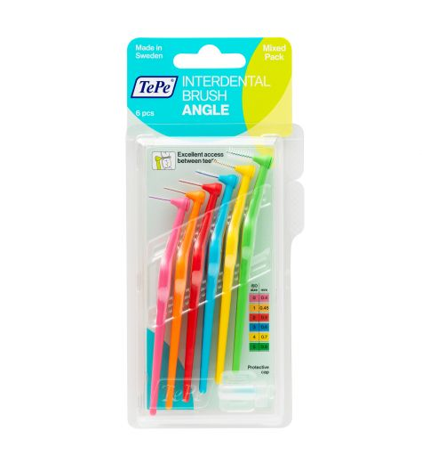 Tepe Interdental Angle Brush Mixed 6 Pack