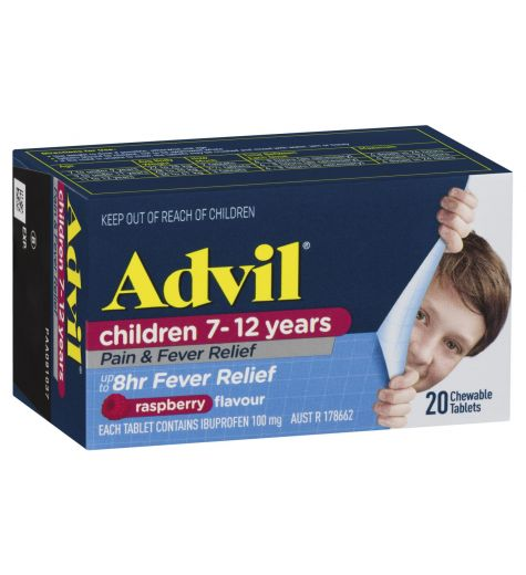 Advil Childrens 7-12 years Chewable Tablets 20