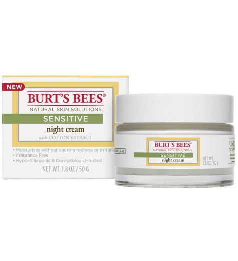 Burt's Bees Sensitive Night Cream With Cotton Extract 50g