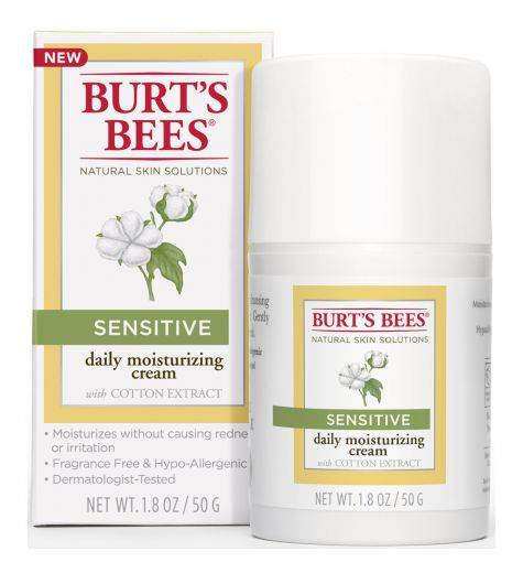 Burt's Bees Senstive Daily Moisturizing Cream With Cotton Extract 50g