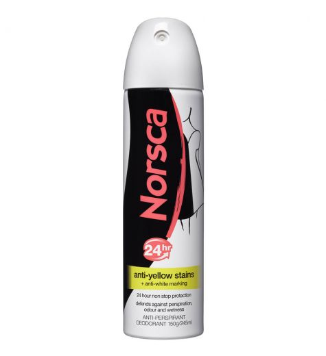 Norsca 24hr Stain Protect Anti Yellow Anti Perspirant Deodorant 150g