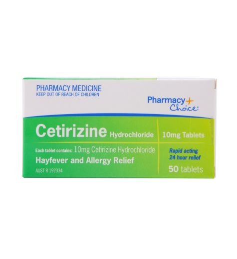 Pharmacy Choice Cetirizine Hayfever & Allergy Relief 50 Tablets