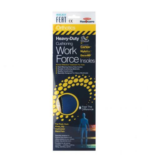 Neat Feat Heavy-Duty Cushioning Work Force Small Insoles
