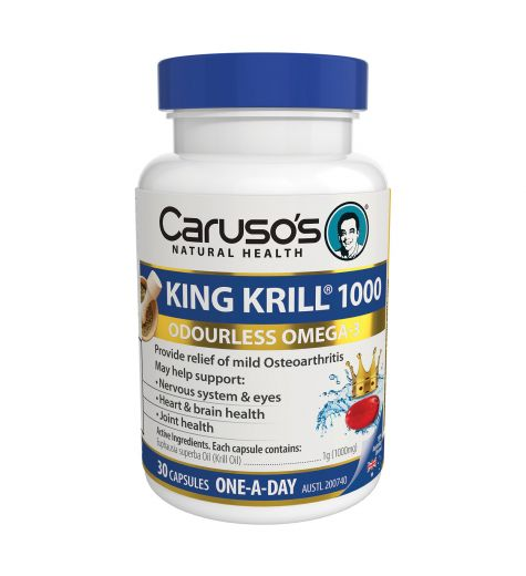 Caruso's Natural Health King Krill 1000mg 30 Capsules