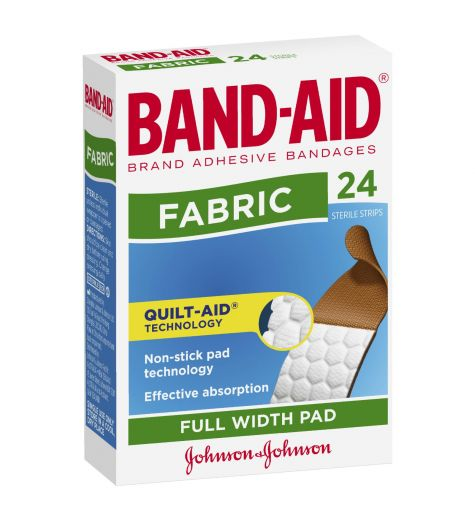 Band-Aid Fabric 24 Flexible Sterile Strips