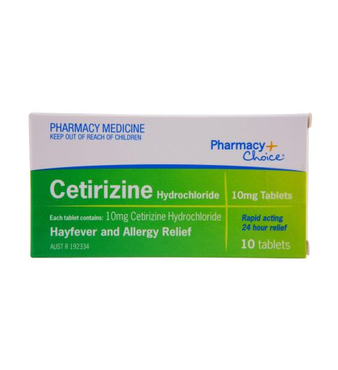 Pharmacy Choice Cetirizine Hayfever & Allergy Relief 10