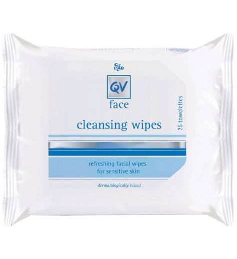 Ego QV Face Cleansing Wipes 25 Towelettes