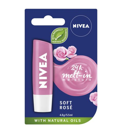 Nivea Lipcare Soft Rose 4.8g