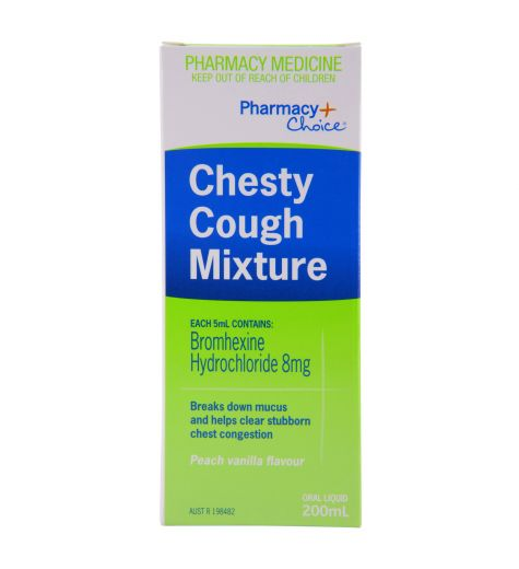 Pharmacy Choice Chesty Cough Mixture 200ml (Same as Bisolvon)