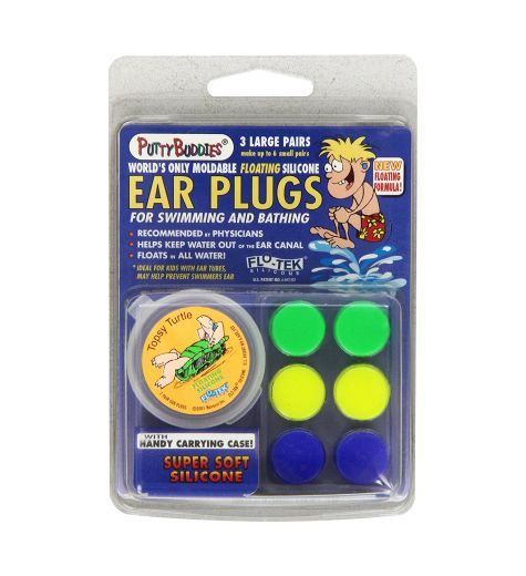 Putty Buddies Super Soft Silicone Floating Ear Plugs 3 Pack